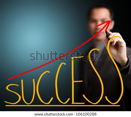 business man writing success concept - stock photo