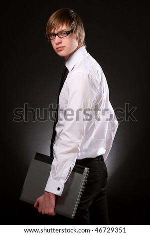business man young and attractiv - stock photo