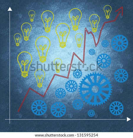 Business management process and business success - stock photo