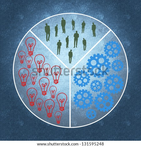Business management process and teamwork - stock photo