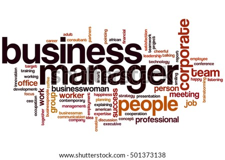 Business manager word cloud concept