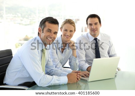Business managers meeting - stock photo