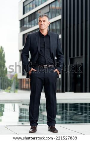 Business Mann meditation - stock photo