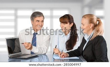 Business, Meeting, Computer.