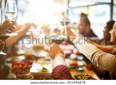 Business Meeting Eating Cheers Happiness Concept - stock photo