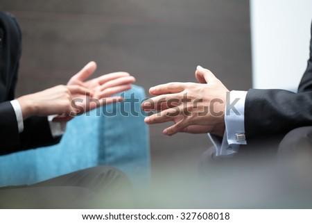 Business Meeting Explaining - stock photo