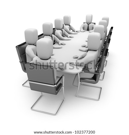 Business meeting. Image contain clipping path - stock photo
