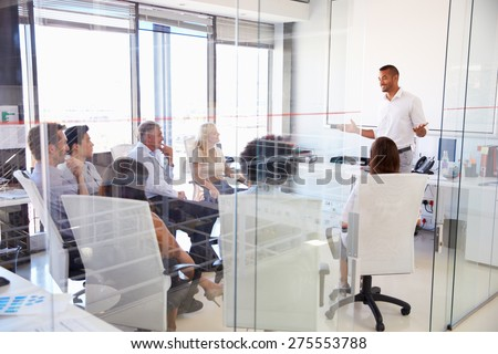 Business meeting in a modern office - stock photo