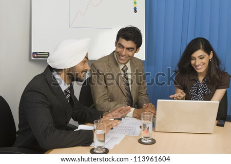 Business meeting in an office - stock photo