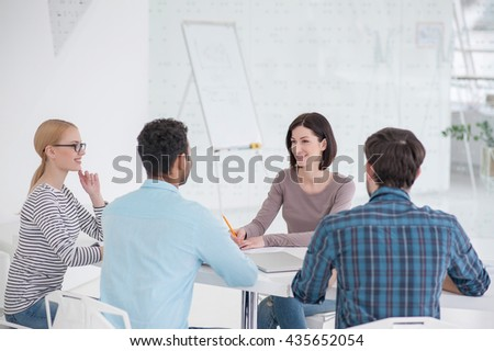 Business meeting in modern office - stock photo