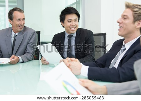 Business meeting in the board room