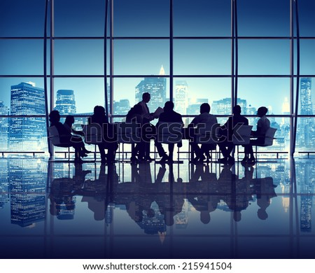 Business meeting in The New York City Office - stock photo