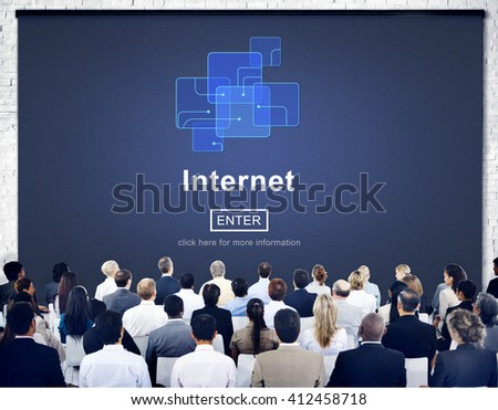 Business Meeting Internet Concept - stock photo