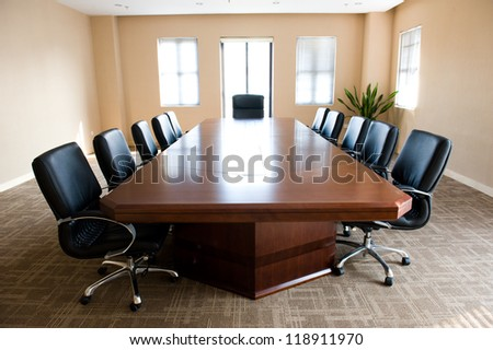 Business meeting room in office . - stock photo