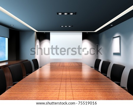 Business meeting room in office with modern decoration.