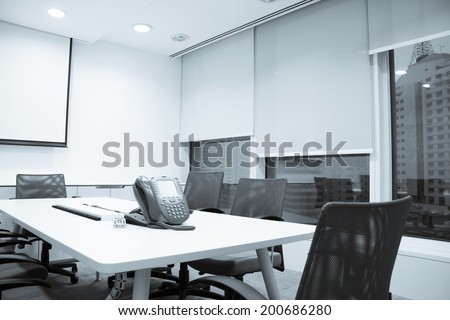 Business meeting room or Board room interiors - stock photo