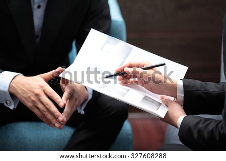 Business Meeting Sales Pitch - stock photo