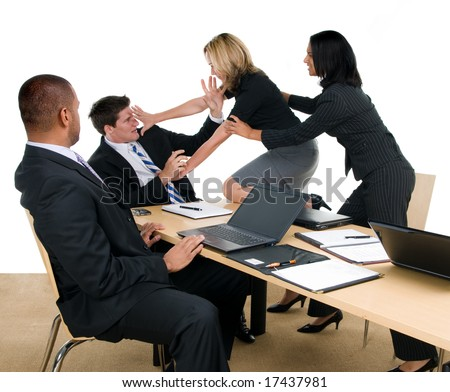Business meeting turns into fight