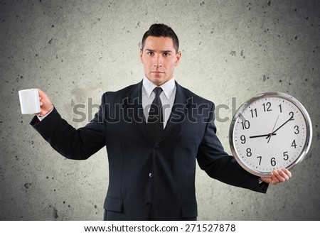 Business, men, busy. - stock photo