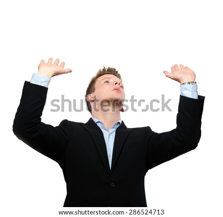 business men carrying something (flat) on white background