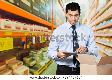 Business, men, owner. - stock photo