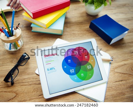 Business Messy Creative Strategy Education Occupation Concept - stock photo