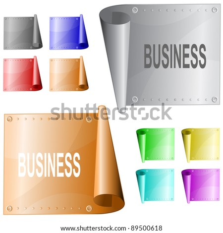 Business. Metal surface. Raster illustration. Vector version is in my portfolio. - stock photo