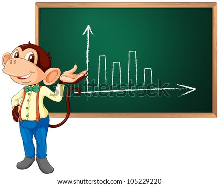 Business monkey presenting information - EPS VECTOR format also available in my portfolio.