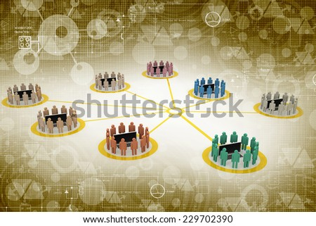 Business network and sharing concept  - stock photo