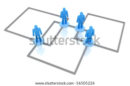 Business Network Concept. Isolated on white 3d concept. - stock photo
