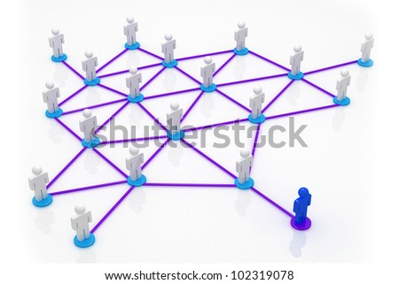 Business Network in isolated background