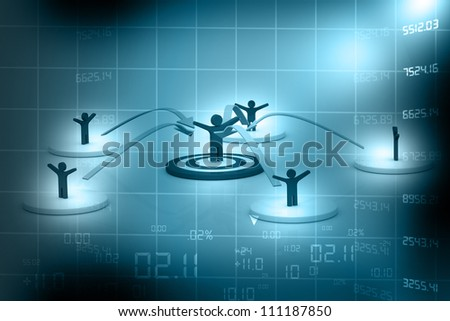 Business Network on abstract background - stock photo