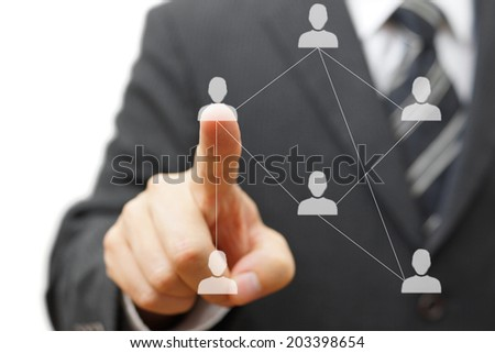 business networking and acquaintances - stock photo