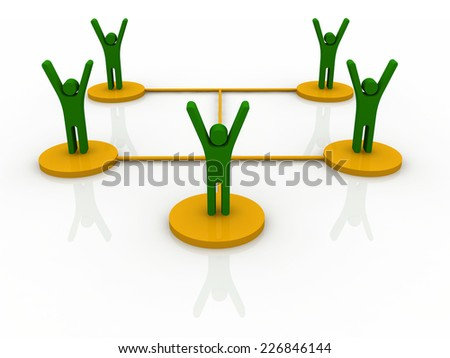 Business Networking concept - stock photo