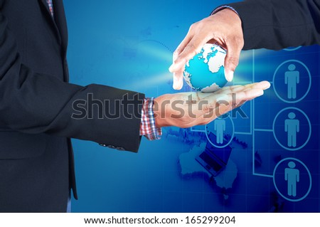 business, new technology and office concept - stock photo
