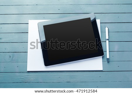 Business objects on a table
