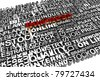 Business of words related with highlighted word Goal - stock photo