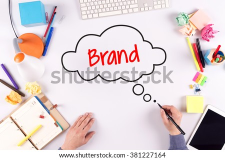 BUSINESS OFFICE ANNOUNCEMENT COMMUNICATION BRAND CONCEPT - stock photo