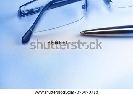 Business office benefit concept - stock photo