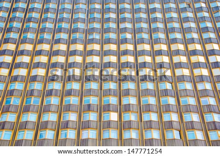 Business Office Building. Facade of Skyscraper. Windows background texture. - stock photo
