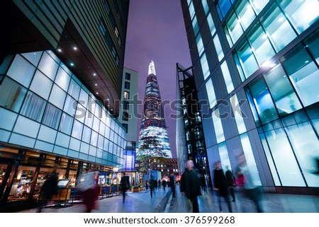 Business office building in London, England - stock photo