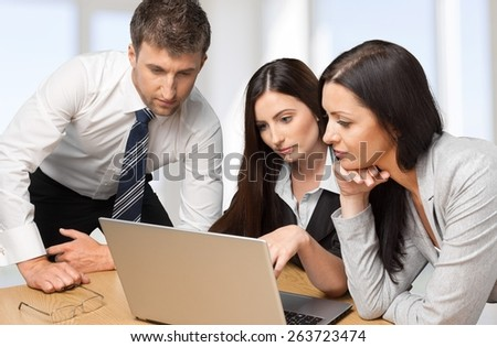 Business, Office, Computer. - stock photo