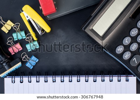 Business / office concept shot, closeup.Stationery - stock photo