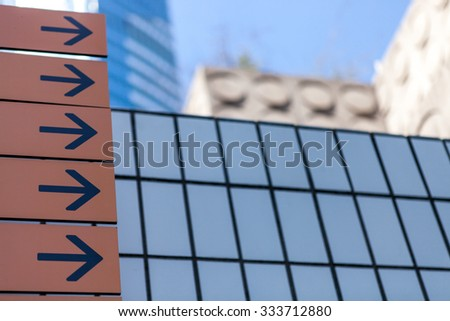 Business office glass building background - stock photo