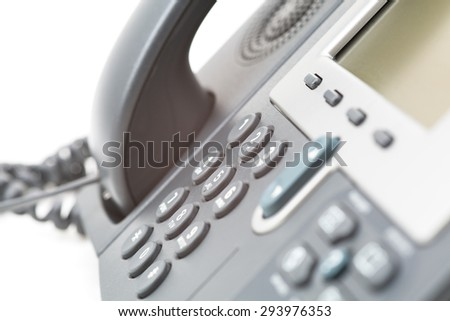 Business Office Telephone Closeup
