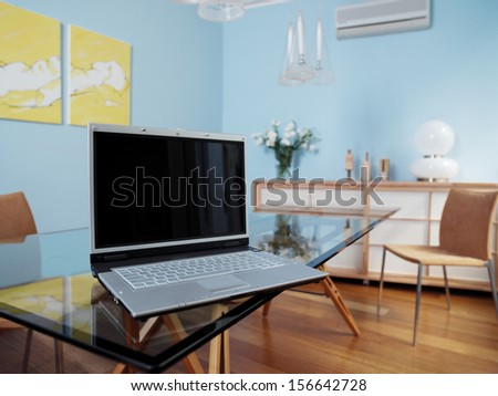 Business office with modern decoration - stock photo