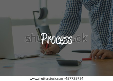 BUSINESS OFFICE WORKING COMMUNICATION PROCESS BUSINESSMAN CONCEPT - stock photo