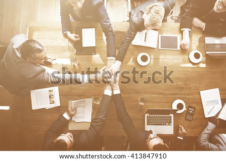 Business Participation Agreement Seminar Support Concept - stock photo