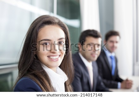 Business partners at the office - stock photo