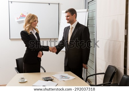 Business partners.Clerks work on the project.  - stock photo
